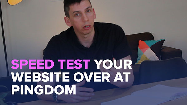 Run a speed test on your website